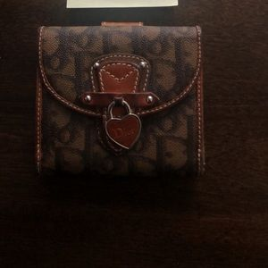 brown monogram dior wallet
